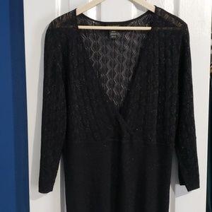 Lane Bryant Black Shimmer Metallic Dolman Sweater
